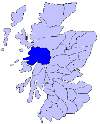 Lochaber - Map of Scotland showing the historic province of Lochaber