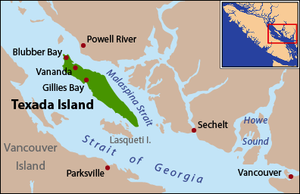 Texada Island - Texada Island is located in the northern Gulf of Georgia, between the Strait of Georgia and Malaspina Strait.