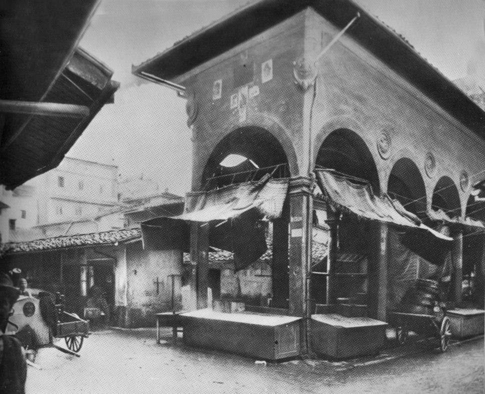 Loggia del pesce before 1880