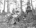 Logging crew in the woods, Wynooche Timber Company, Montesano, ca 1921 (KINSEY 966).jpeg