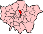 Islington shown within Greater London