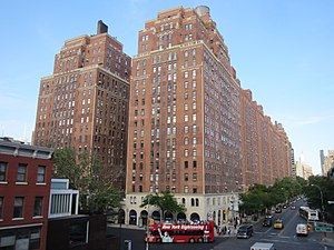 Chelsea, Manhattan - London Terrace and the intersection of 10th Avenue and West 23rd Street.