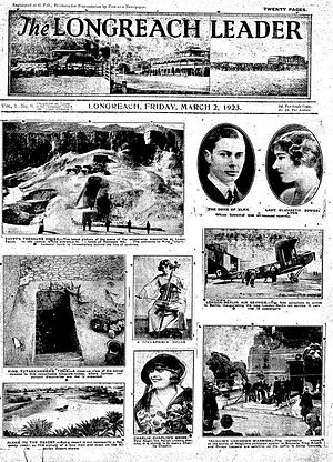 The Longreach Leader - Front page of The Longreach Leader, 2 March 1923