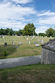Looking N across Cedar Avenue at section H - Glenwood Cemetery - 2014-09-14.jpg