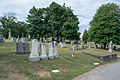 Looking N at graves on Cedar Avenue in section M - Glenwood Cemetery - 2014-09-14.jpg