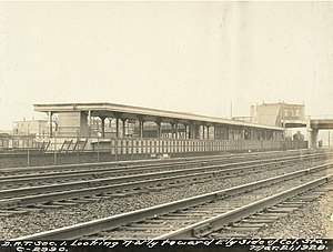 JFK/UMass (MBTA station) - Columbia station in March 1928