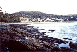 Lorne, Victoria viewed from the west beach of Louttit Bay.jpg