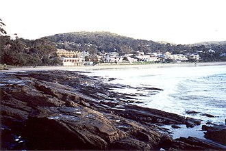 Lorne, Victoria - Lorne viewed from the west beach along Louttit Bay