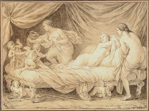 Louis Jean François Lagrenée - The Three Graces Teased by Cupids, 1778