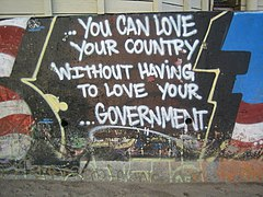 Love your country, not government