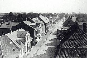 Kongens Lyngby - Lyngby Main Street in c. 1900