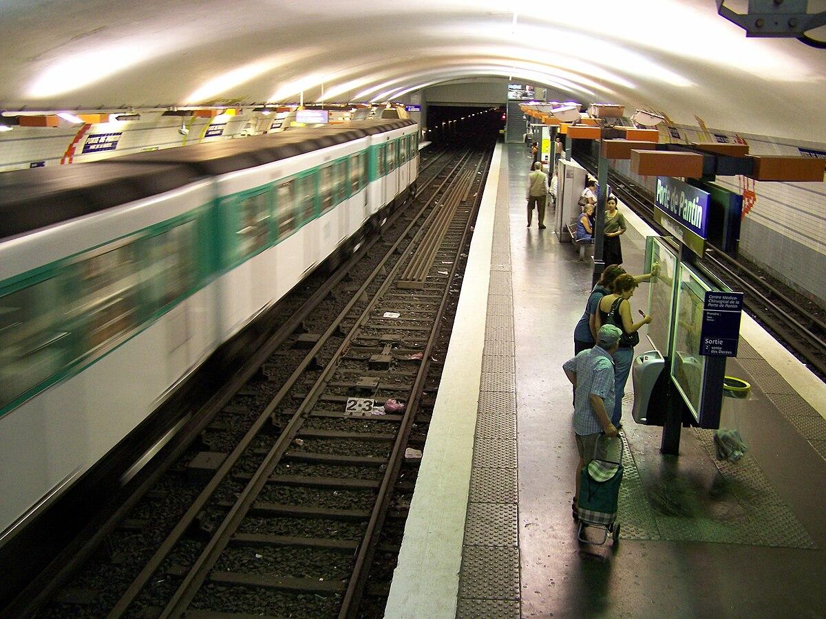 Porte de pantin stacja metra wikipedia wolna encyklopedia for Porte de pantin salon
