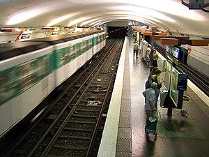 Porte de Pantin (Paris Métro) - Image: Métro Pantin 2007