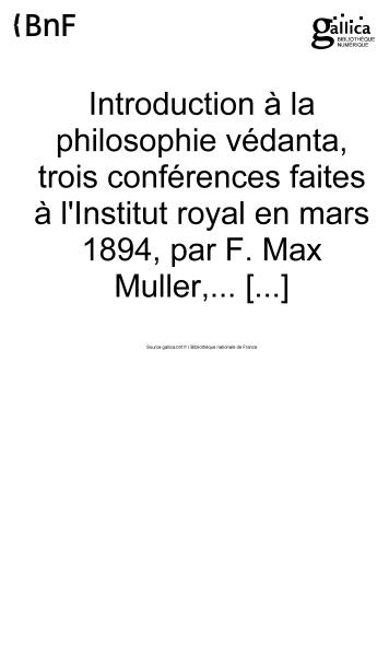 File:Müller - Introduction à la philosophie védanta.djvu