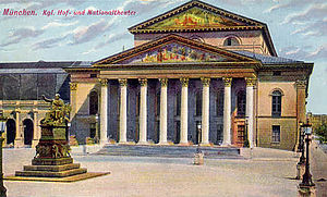 National Theatre Munich - National Theatre, around 1900