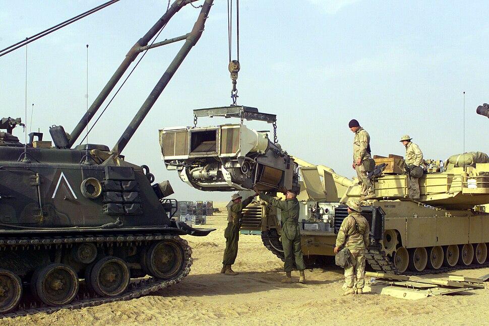 M88 pulling M1 engine