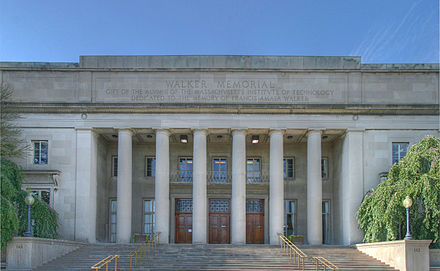 Walker Memorial is a monument to MIT's fourth president, Francis Amasa Walker MIT Walker Memorial.jpg