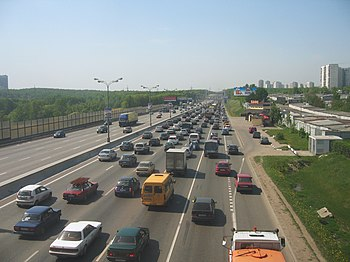 English: View of Moscow's MKAD / highway ring ...
