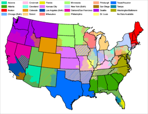 MLB Blackout map