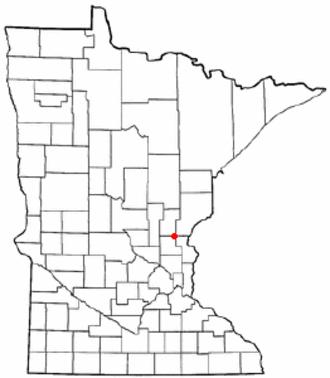 Braham, Minnesota - Image: MN Map doton Braham