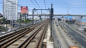 Magallanes MRT station - Image: MRT 3 Tracks Magallanes 1