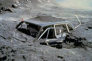Reid Blackburn - Blackburn's Volvo 144 after the eruption