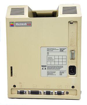 Macintosh 512K - Mac 512K back panel