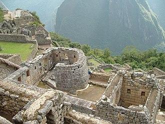 Machu Picchu - Temple of the Sun or Torreon