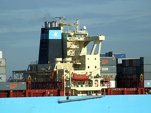 Maersk Kolkata p08 approaching Port of Rotterdam, Holland 21-Feb-2005.jpg