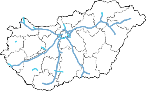 térkép magyarország autópálya Magyarország autópályái – Wikipédia térkép magyarország autópálya