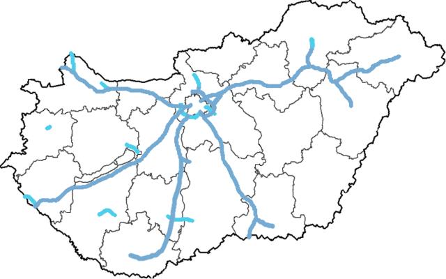 magyarország térkép autópályákkal File:Magyar autópályák térképe.png   Wikimedia Commons magyarország térkép autópályákkal
