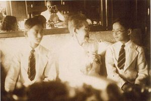 Ananda Mahidol - King Rama VIII (Ananda Mahidol) and HRH Prince Bhumibol Adulyadej (later King Rama IX) with their grandmother, Queen Savang Vadhana, in 1938. Photo by HRH Prince Rangsit Prayursakdi, the Prince of Jainad (Chainat).