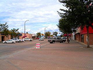 Slave Lake Town in Alberta, Canada