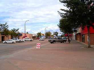 Slave Lake - Main street in August 2006