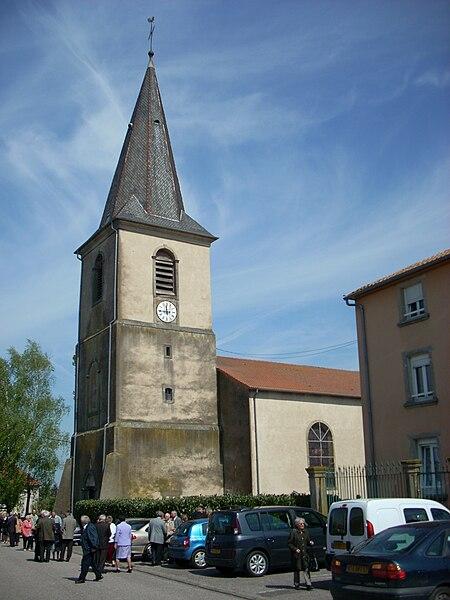 Church in Maizières-lès-Vic, Moselle, Lorraine, France