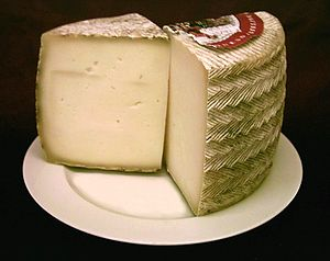 Manchego cuisine - Manchego cheese, one of the better-known products of the region.