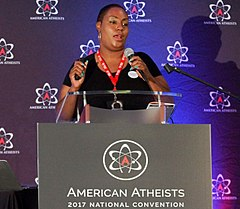 Mandisa Thomas speaks at American Atheists 2017 National Convention.