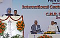 Manmohan Singh addressing the gathering at the inauguration of International Centre for Materials Science, at Jawaharlal Nehru Centre for Advanced Scientific Research, in Bangalore, Karnataka on December 03, 2008 (1).jpg