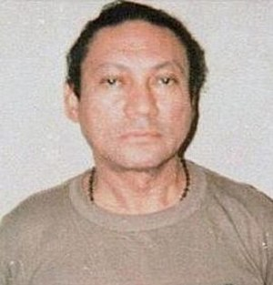 Manuel Noriega - Mug shot after surrender to U.S. forces