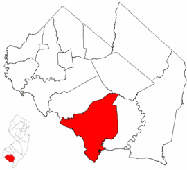 Map of Cumberland County highlighting Downe Township.png