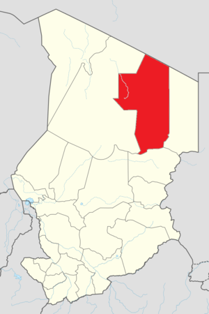 Fada, Chad - Image: Map of Ennedi Ouest Region