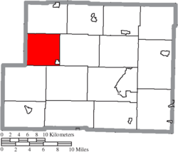 Location of Franklin Township in Harrison County
