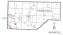 Location of Hartstown in Crawford County