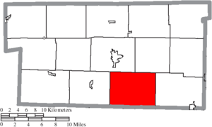 Mechanic Township, Holmes County, Ohio - Image: Map of Holmes County Ohio Highlighting Mechanic Township