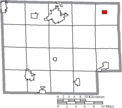 Location of Wakeman in Huron County