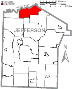 Map of Jefferson County, Pennsylvania Highlighting Heath Township.PNG