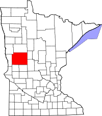 Map of Minnesota highlighting Otter Tail County