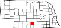 Map of Nebraska highlighting Phelps County