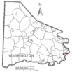 Map of Roscoe, Washington County, Pennsylvania Highlighted.png