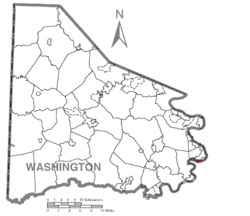 Location of Roscoe in Washington County